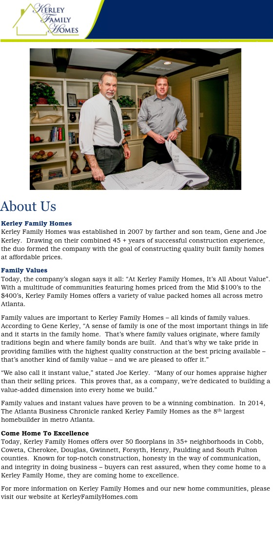 Kerley Family Homes
