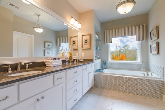 New Homes in Lawrenceville by EA Homes - Interior Bath