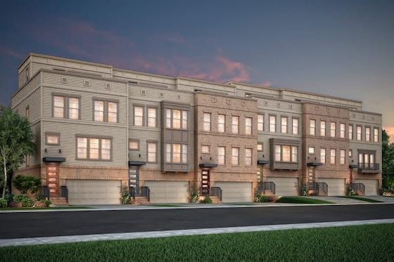 New Atlanta Townhomes built by Pulte Homes in Altus at the Quarter